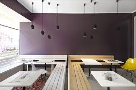 long benches with small table cafe design ideas cafe interior design office