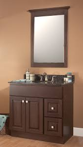 contemporary vanities for small bathrooms ideas with dark brown maple wooden inch sink cabinet and charcoal brown bathroom furniture