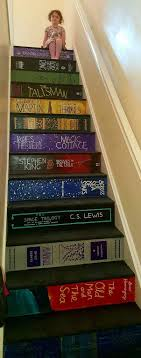 best ideas about painted stair risers painted diy book stairs the 26 stair makeoveryou can more about pippa branham s diy book