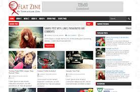flat zine blogger template flat zine blogger template multimedia news bulletin entertainment technology blog theme 3 column 4 column best blogger