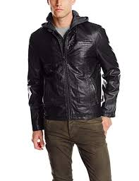 Levi's Men's Faux-<b>Leather Jacket with Hood</b> at Amazon Men's ...