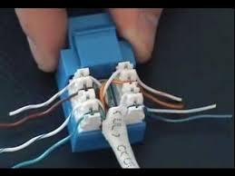 how to cable a computer jack rj45 cat 5e