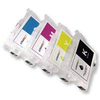 Empty <b>Refillable Ink</b> Cartridges (<b>Set</b> of 4)