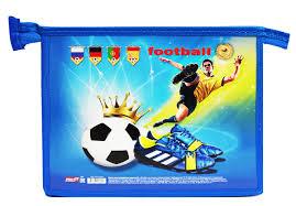 Prof <b>Press Папка для тетрадей</b> на молнии Футбол на синем ...