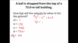 fall motion practice d kinematic motion
