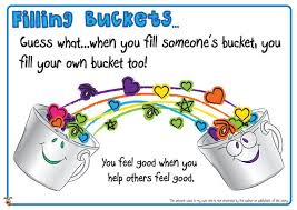 Image result for how to be a bucket filler