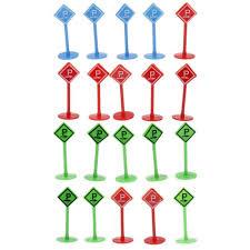 Jual <b>20pcs</b> Plastic <b>Car Toy</b> Accessories Street Traffic Light Road ...