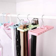 <b>1 Pc</b> Wooden Tie Hanger Belt Scarf Closet Rack Organizer Holder ...