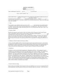 rental agreement rental lease agreement form rental agreement template 01