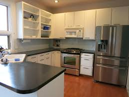 Painted Kitchen Remodelaholic Diy Refinished And Painted Cabinet Reviews