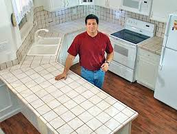 diy tile kitchen countertops: install tile over laminate countertop and backsplash diy remodeling expert fuad reveiz shows how to lay