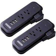 Power Bar with USB <b>2</b> Pack - <b>NTONPOWER</b> Travel <b>Power Strip</b>, <b>2</b> ...