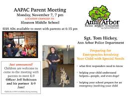 a2pac ann arbor parent advisory committee for special education 2016 2017 meeting calendar