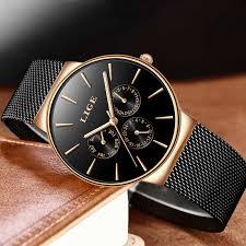 <b>2019 New LIGE</b> Men Watches Top Brand Luxury Ultra Thin Simple ...