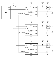 fan speed control is cool tutorial maxim figure 16 this application the max6651s are configured to use the same oscillator