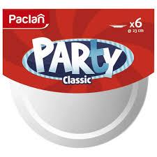 <b>набор</b> тарелок PACLAN <b>Party</b> белые 23см 6шт - Чижик