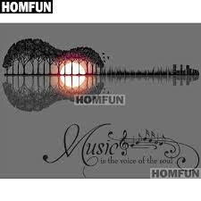 "HOMFUN <b>Full Square/Round Drill 5D</b> DIY Diamond Painting ""Music ..."