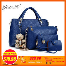 Online Shop Yeetn.H <b>Women</b> 4 Set <b>Handbags</b> Pu Leather Fashion ...