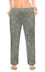 """Женские пижамные штаны """"<b>Квадраты</b>"""" #2696024 от valezar ..."""