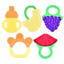 <b>3PCS</b> Baby Silicone Teether Portable Sensory <b>Chewing</b> Teether ...