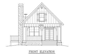 Small Cabin Plan   loft   Small Cabin House Planssmall cabin house plan fish camp front