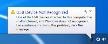 flashdisk device not recognized