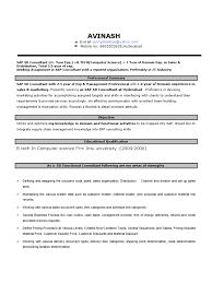 sap sd resume exp