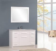 element contemporary bathroom vanity set:  inch modern white single sink bathroom vanity set