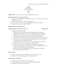 examples for executive assistant best resume  seangarrette coadministrative assistant resume highlights of qualifications