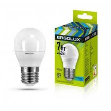 <b>Светодиодная лампа Ergolux LED</b>-<b>G45</b>-<b>7W</b>-<b>E27</b>-<b>4K</b>
