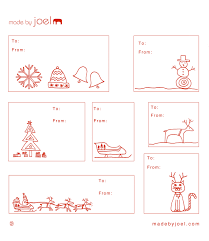 made by joel winter holidays holiday gift tag templates