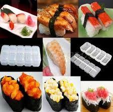 <b>100PCS</b> NEW Japan Nigiri Sushi Mold Rice Ball 5 Rolls Maker Non ...