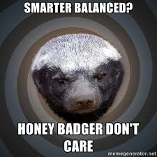 Smarter Balanced? honey badger don't care - Fearless Honeybadger ... via Relatably.com