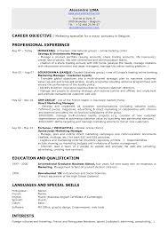 resume marketing objective  tomorrowworld co   photo human resources resume objective images job resume objective examples for marketing