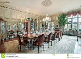 Formal Dining Room Formal Dining Room With Wall Mirrors Stock Photos Image 11995453