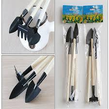 HOT <b>1Set</b> Mini Small Shovel Rake Spade Wood Handle <b>Metal Head</b> ...