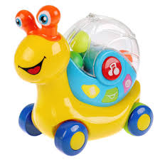 <b>Развивающая игрушка</b> музыкальная Улитка 1502B019-R <b>ТМ УМКА</b>