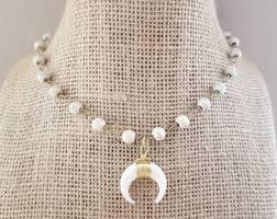 <b>Boho horn necklace</b> | Etsy