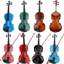 <b>4/4 Full Size Acoustic</b> Violin With Case Bow Rosin | Wish