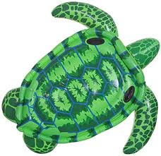 Inflatable Turtle Adult Floating Row, Thick Green PVC ... - Amazon.com