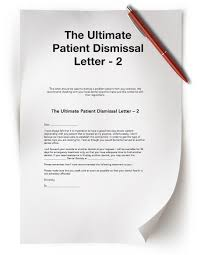 dismissal letter informatin for letter patient dismissal letter letter termination letter template