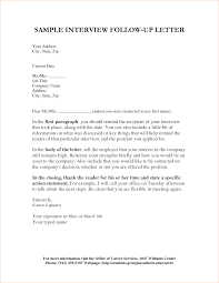 follow up interview letter examples apology letter  email after interview sample