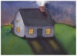 Cozy Home. Original watercolor