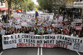 Resultado de imagen de IMAGENES MANIFESTACIONES CONTRA EL PP EN MADRID POR LOS RECORTES EN LA ENSEÑANZA