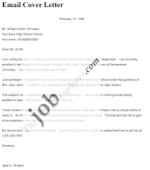cover letters email template cover letters email