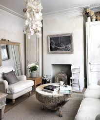 chic living room dcor: view in gallery tree trunk coffee and antique mirror epitomize the shabby chic style of the room design