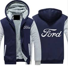 new High quality <b>S 5XL</b> for Ford Hoodies Jacket <b>Winter Men Fashion</b> ...