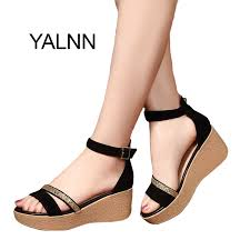 YALNN Summer <b>Hot Fashion New</b> Black <b>Women</b> Sandals Female ...