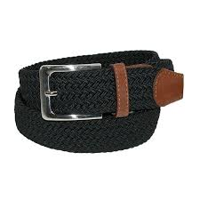 CTM <b>Men's Elastic Braided</b> Stretch Belt with Silver Buckle and Tan ...