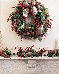 cabin decor lodge sled:  lodge plaid decorated wreath alt